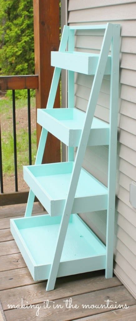 diy ladder shelf it in the mountains