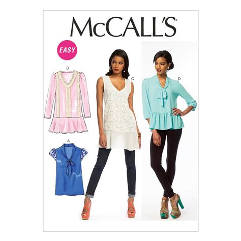 mccall s mccall s misses tops pattern m6793 size 0y0 discount
