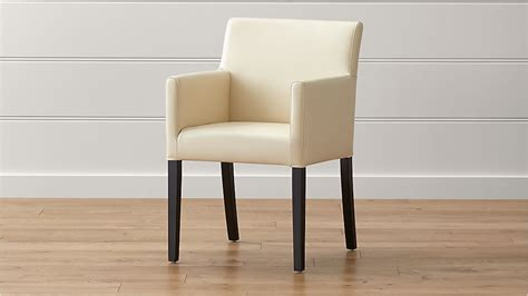 ivory dining chairs lowe ivory leather dining arm chair crate and barrel