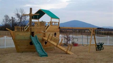 pirate swing set pirate ship swing set for the home pinterest