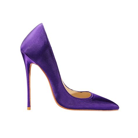 Stilleto Shoe nanie basic stiletto heel satin pumps purple in shoes