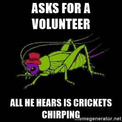 Crickets Meme - pics for gt crickets chirping meme