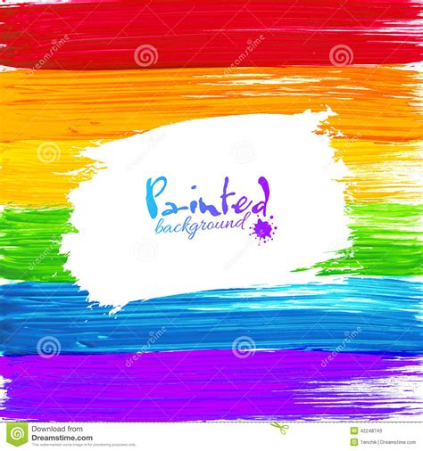 bright rainbow paint splashes vector background stock vector image 42248743