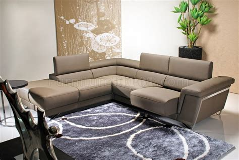 light brown sectional sofa light brown leather modern sectional sofa w chrome legs