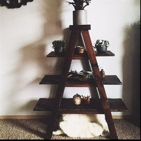 A Frame Ladder Bookcase Rustic Ladder Shelf A Frame Shelf Rustic Bookshelf