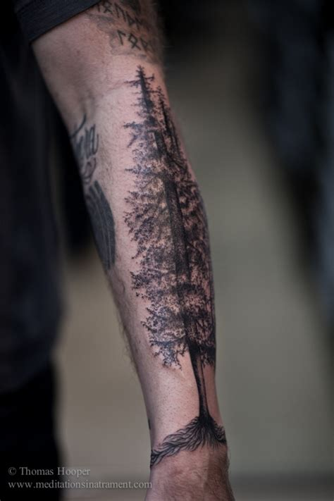 tree tattoos on forearm 45 relaxing nature ideas
