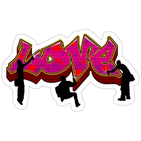 graffiti love stickers  rossman redbubble