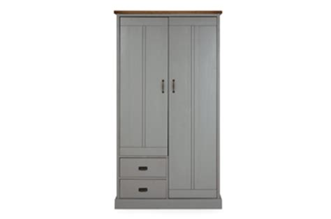 Gray Wardrobe by Shoreditch 174 Grey Wardrobe With Drawer