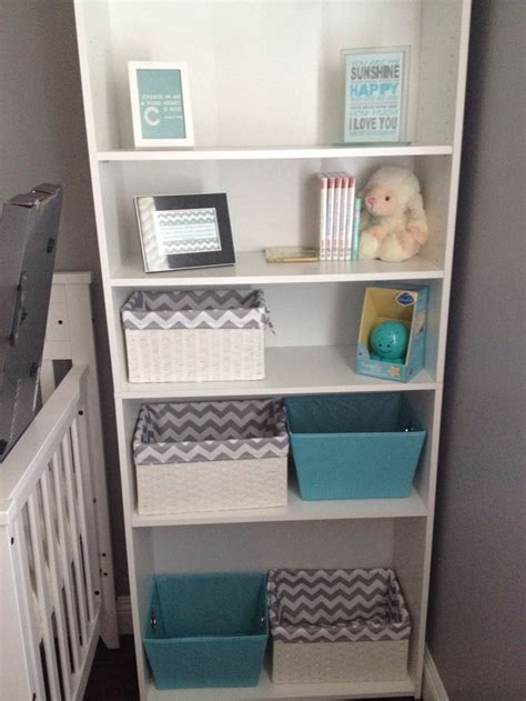 baby boy nursery grey white turquoise chevron diy