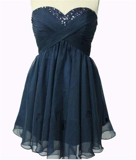 cute navy blue short chiffon short prom dresses
