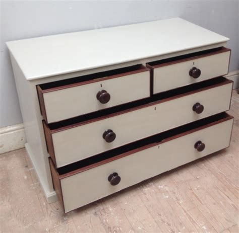 Low Wide Chest Of Drawers White by A4056 Painted Pine Low Chest Of Drawers