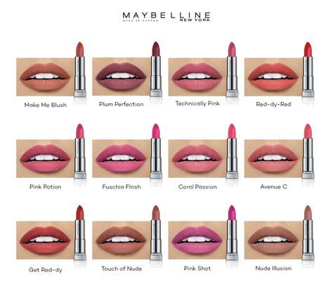 Maybelline Lip Liner Review Harga maybelline color sensational powder matte avenue c