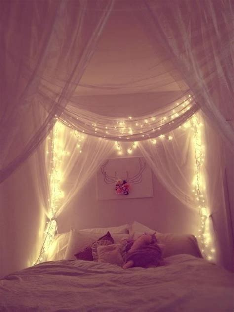 fairy lights girls bedroom 20 diy dorm canopy beds home design and interior