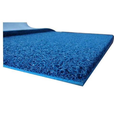 Plastic Floor Mat - blue plain plastic floor mat new royal tuft id 16411731912