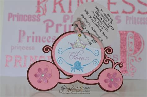 Handmade Princess Invitations - princess invitations jingvitations