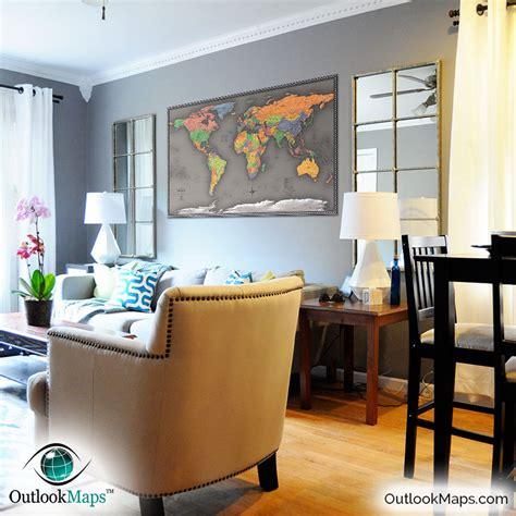 livingroom world cool color world map modern design world map
