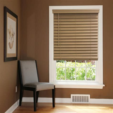 Home Decorators Collection Faux Wood Blinds by Home Decorators Collection Chestnut 2 1 2 In Cordless Premium Faux Wood Blind 31 In W X 64