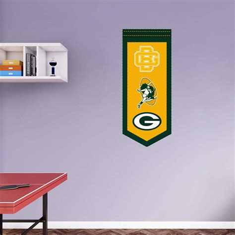 green bay packers wall stickers green bay packers logo evolution banner wall decal shop fathead 174 for green bay packers decor