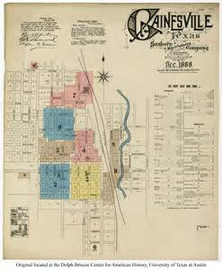 gainesville texas map sanborn maps of texas perry casta 241 eda map collection ut library