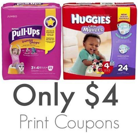 printable coupons huggies pull ups pull ups coupons printable and online deals and sales