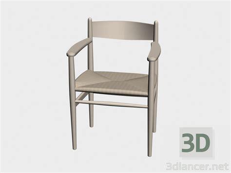stuhl 3d modell 3d modell stuhl ch37 vom hersteller carl hansen chairs