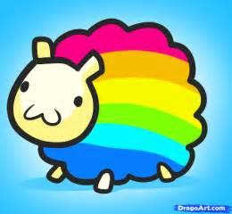 rainbow doodle drawing learn how to draw rainbow sheep rainbow sheep characters