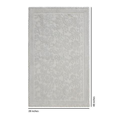 light grey bathroom rugs jean pierre turkish cotton crochet 28 in x 48 in bath