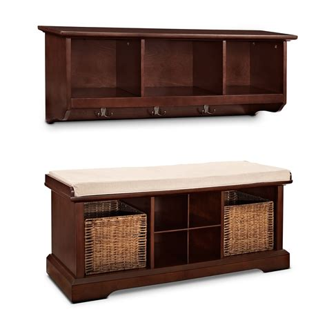 levi white entryway storage bench american signature levi white entryway storage bench american signature