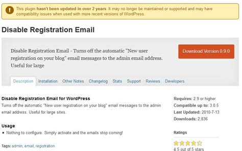 wordpress tutorial user registration stop annoying new registered user emails with plugin