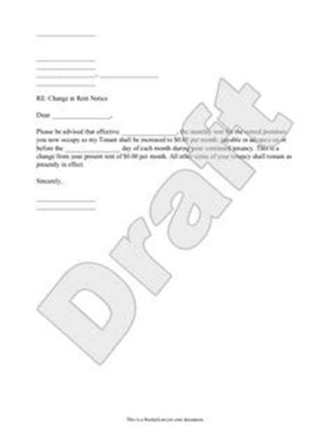 Rent Increase Renewal Letter free termination letter template sle letter of