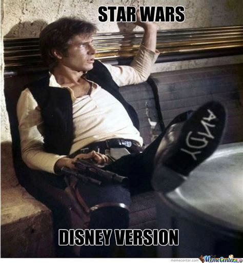 Star Wars Disney Meme - star wars disney version by alexuhryn meme center