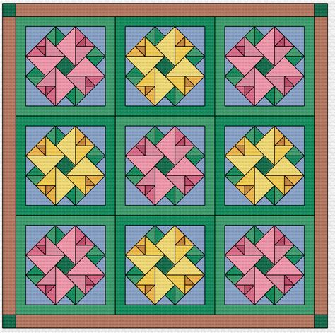 quilt blocks of hawaii complete set cross stitch quilt cross stitch pattern quilt block double aster