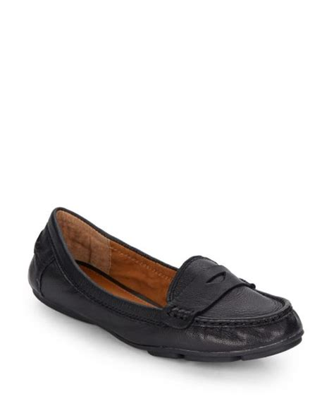 brand loafers lucky brand feverton leather loafers in black lyst