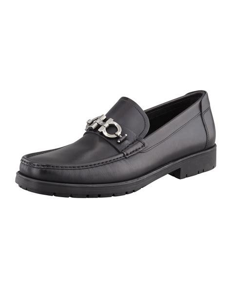 Blackmaster Mocasin ferragamo master gancini loafer in black for lyst