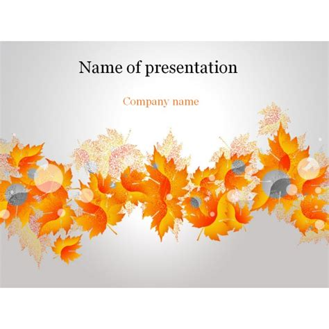 fall powerpoint templates free autumn powerpoint template background for presentation