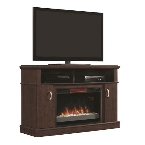 infrared l with stand dwell tv stand for tvs up to 50 quot with 26 quot infrared quartz