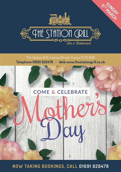 Uk Mothers Day 2018 Mothering Sunday 2018 The Station Grill Llansantffraid