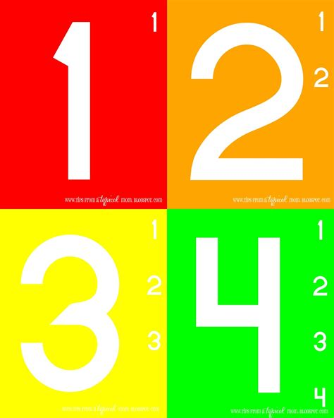 printable numbers toddlers teach kids numbers free printable activity preschool
