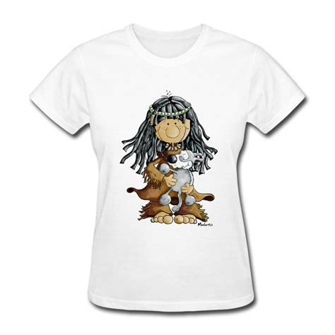 Tshirt Woles Grey indian with a grey wolf puppie t shirt