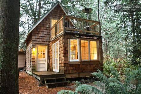small cabin design tiny cabin with upstairs balcony and small space ideas galore