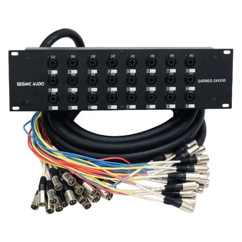 Rack Mount Xlr Splitter rack mount 24 channel xlr trs combo splitter snake cable