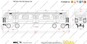 blueprints vector drawing r62 york subway car