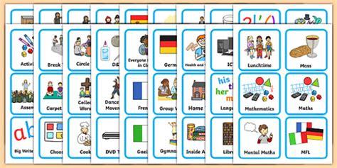 Autism Word Card Editable Template by Editable Ks1 Visual Timetable Visual Timetable Sen