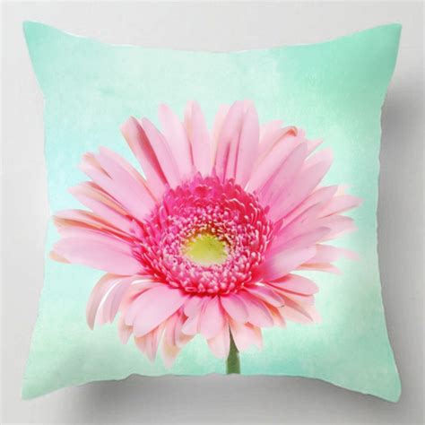 Flower Cushion pastel gerbera flower cushion