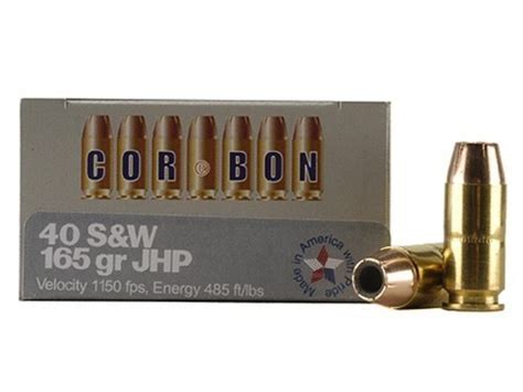 cor bon self defense ammo 40 s w 165 grain jacketed mpn
