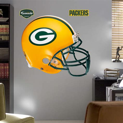 green bay packers home decor green bay packers helmet wall decal shop fathead 174 for
