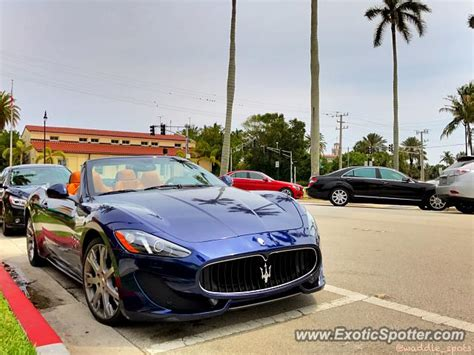 Maserati Of Palm Maserati Grancabrio Spotted In Palm Florida On 04