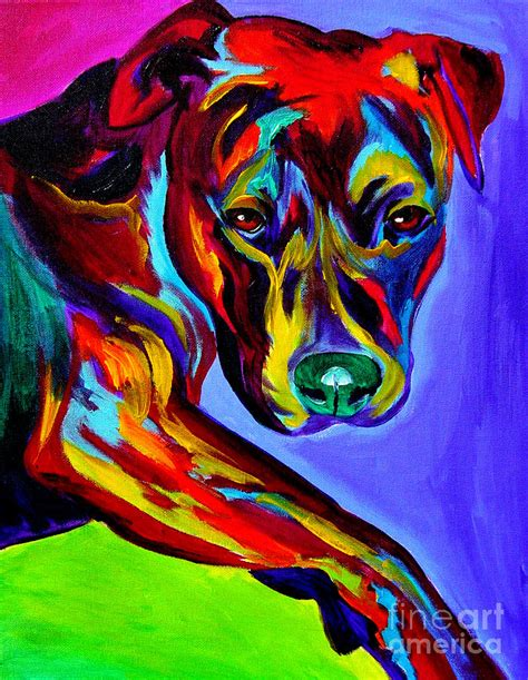 pit paint pit bull gaze painting by vannoy call