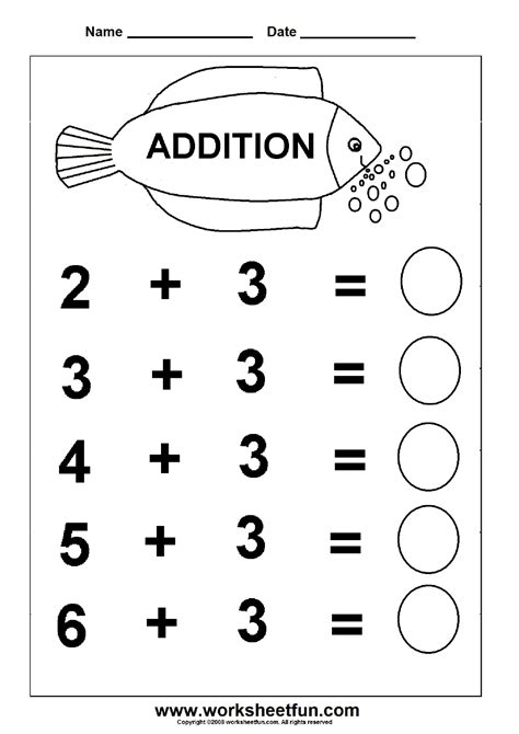 Free Printable Worksheets For Preschool Through Sixth Grade | free printable math worksheets for kids all kindergarten