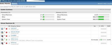vmware server console connect vmware server using webbased management interface